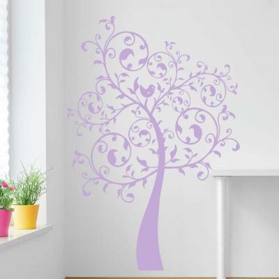 Swirl tree wall decal
