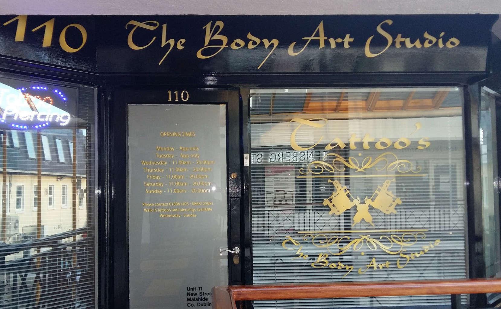 Malahide Body Art Studio Opening Hours