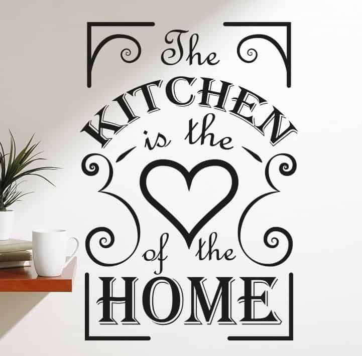 the kitchen is the heart of the home wall decal sticker