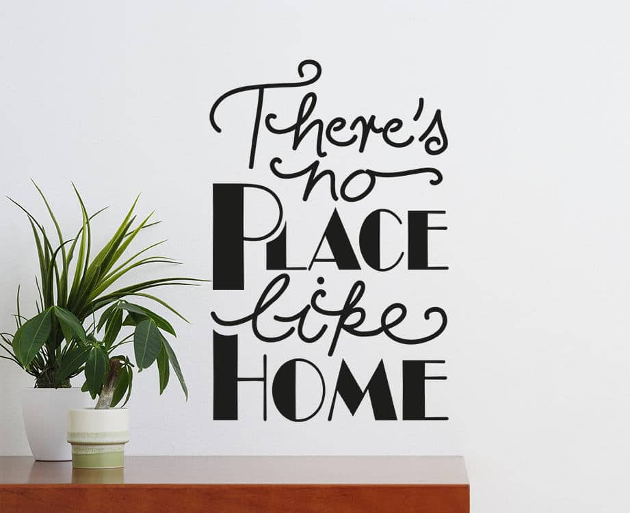 There's no place like home wall decal There's no place like home wall decal
