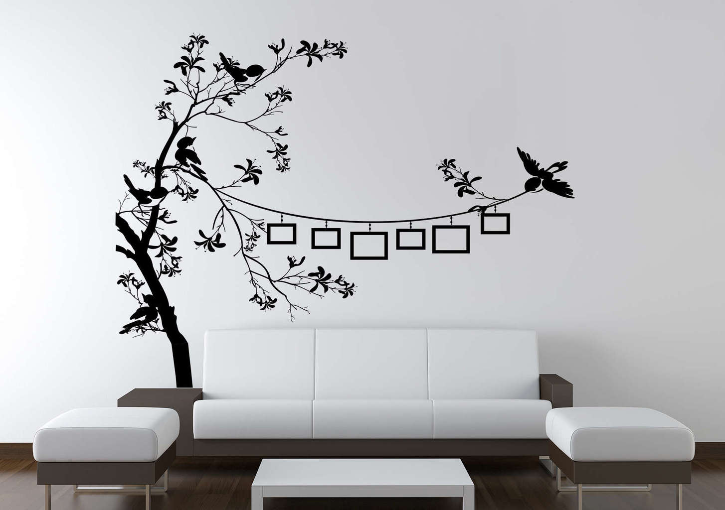 Bird Photo Frame Tree Wall Decal Photo Tree Wall Decal