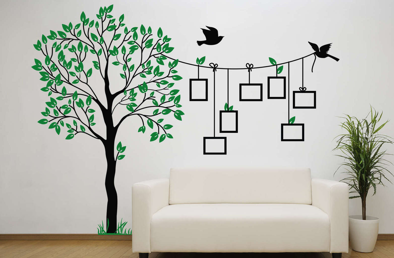 Bird Photo Frame Tree Wall Decal Sticker Photo Tree Wall Decal