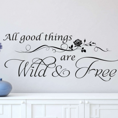 Wild and free wall decal sticker