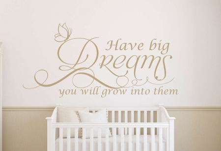 Big dreams wall decal sticker