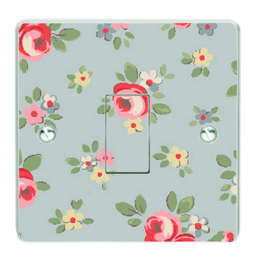 Kensington rose pattern | Patterned Light Switch Sticker | Patterned Light Switch decal cover