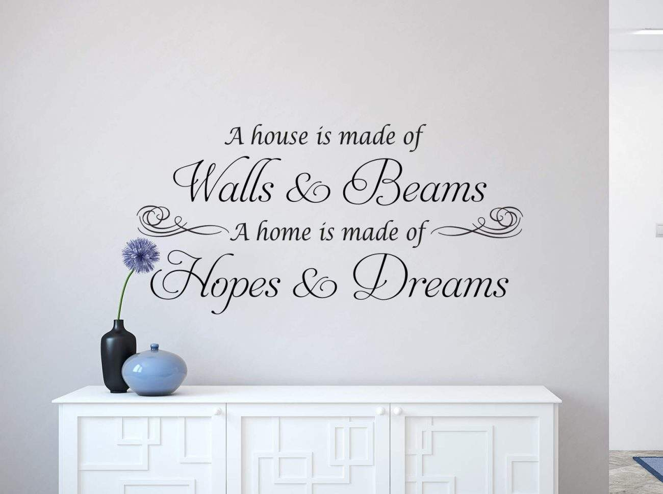 Wall and beams, hopes and dreams wall decal sticker, wall decals