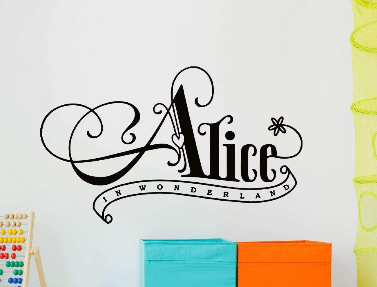 Alice in wonderland wall decal sticker