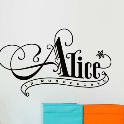Alice in wonderland wall decal sticker