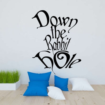 Alice in wonderland rabbit hole wall decal sticker