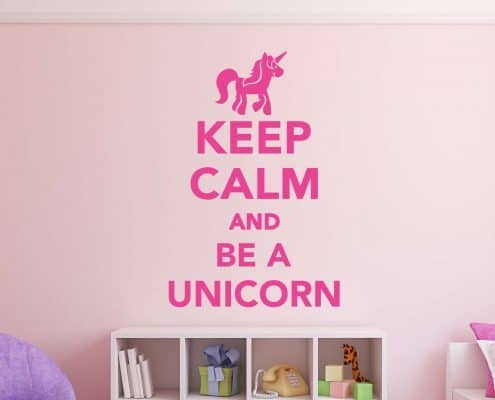 Keep calm and be a unicorn wall decal sticker