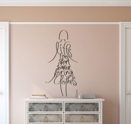 Clothes wall decal sticker