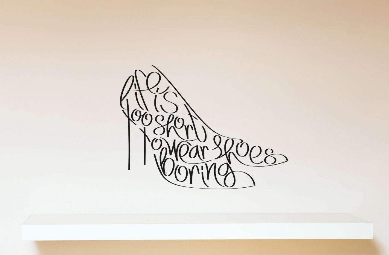 Shoes wall decal sticker