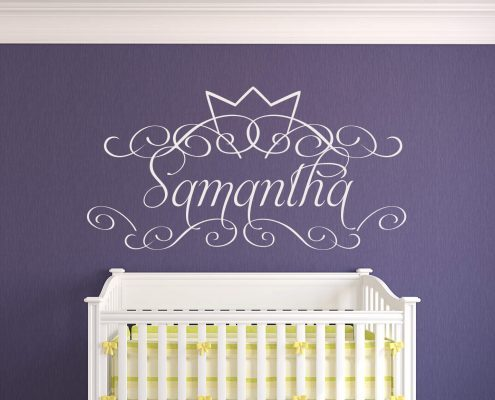 Crown personalised wall decal sticker
