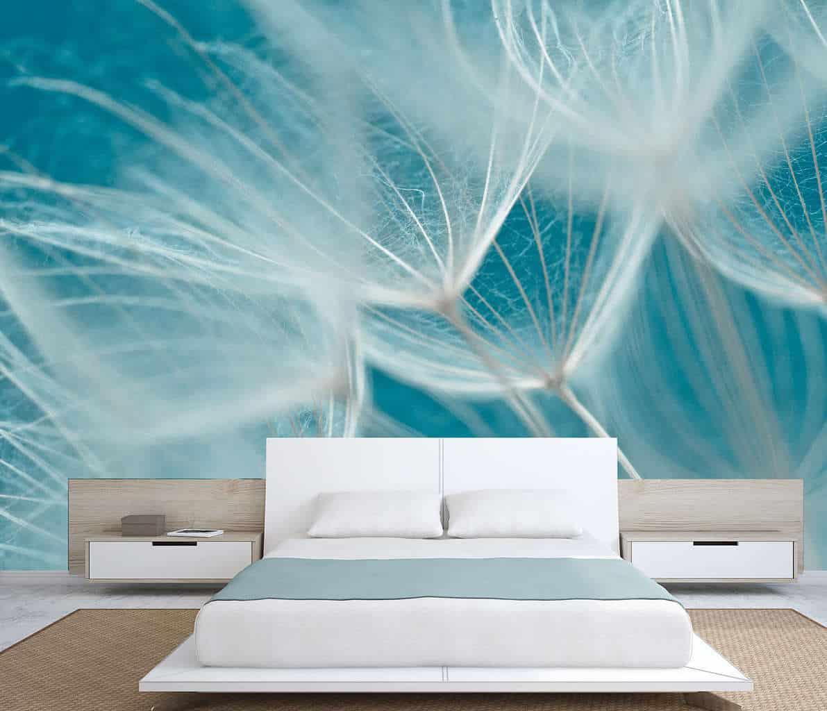 Dandelion seeds wall mural