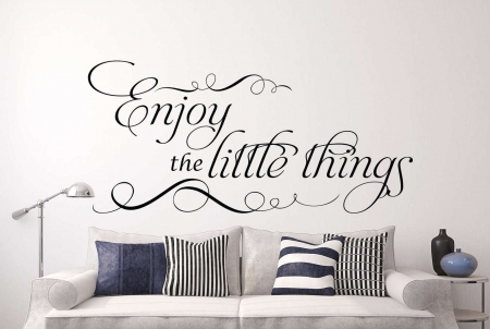 Enjoy the little things wall decal sticker