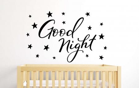 Good night wall decal sticker