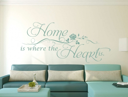 Home is where the heart is wall decal sticker