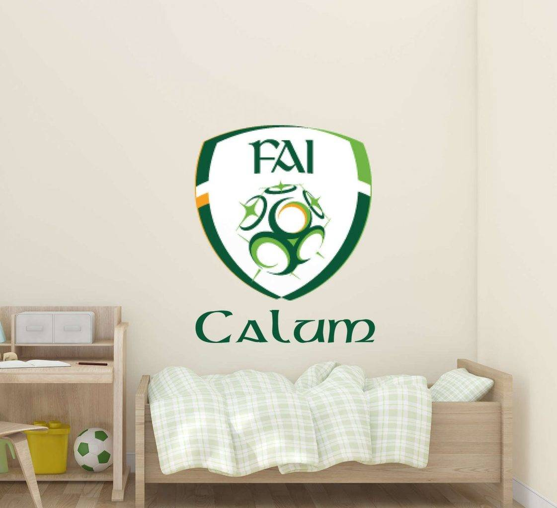 Ireland FAI crest personalised wall decal
