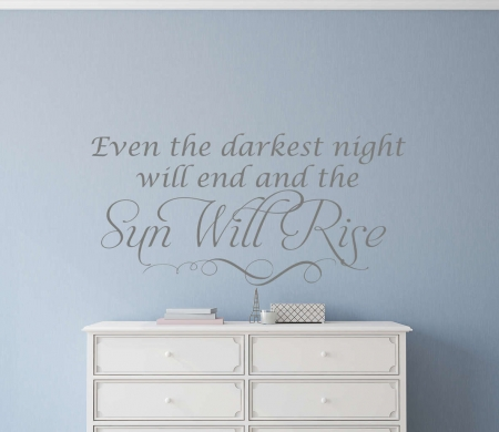 Sun will rise wall decal sticker