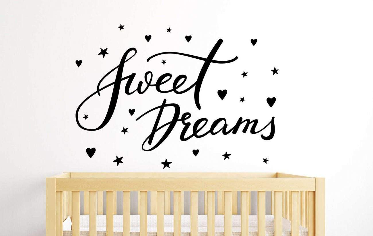 Sweet dreams wall decal sticker