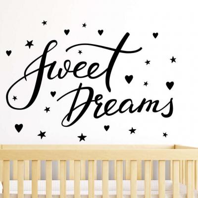 Sweet dreams wall decal sticker