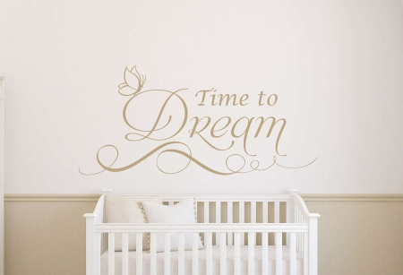 Time to dream wall decal sticker