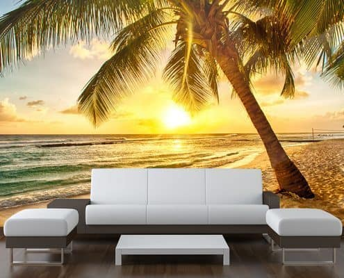 Beach Palm Tree Wall Mural