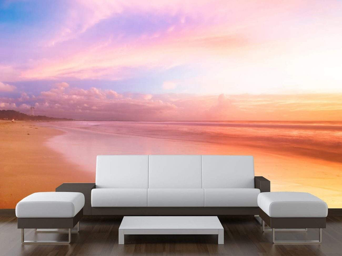 Sunset Beach Wall Mural
