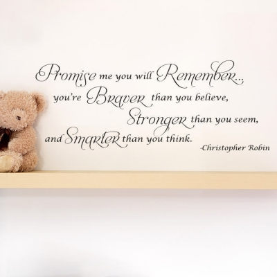 Promise me you will remember wall decal sticker