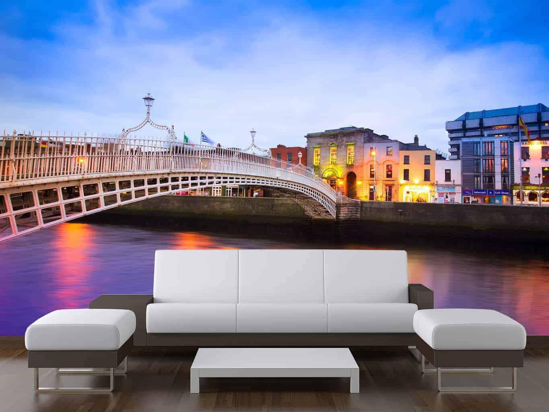 Dublin City Ha'Penny Bridge Wall Mural