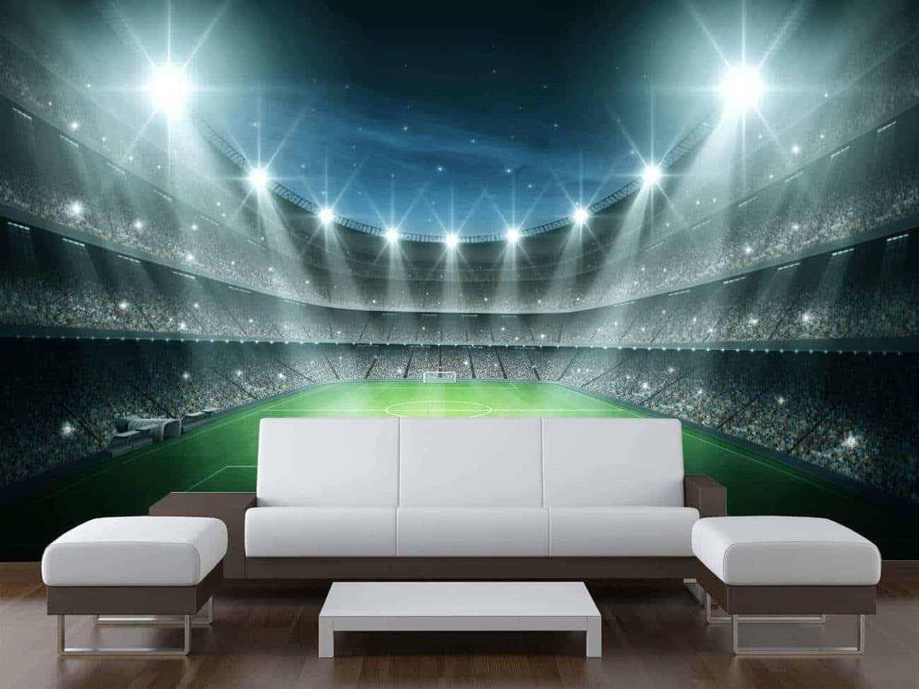 Football Stadium Wall Mural
