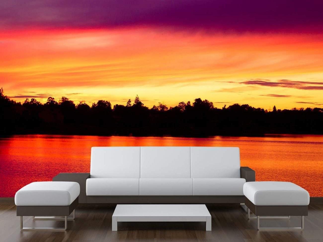 Lake Sunset wall Mural