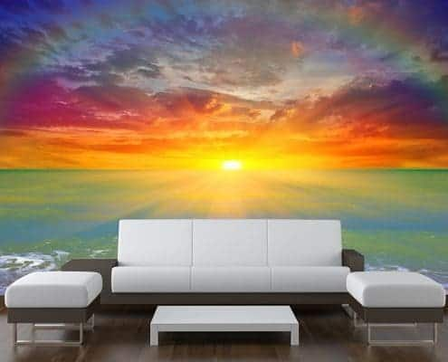 Sunset Rainbow Wall Mural