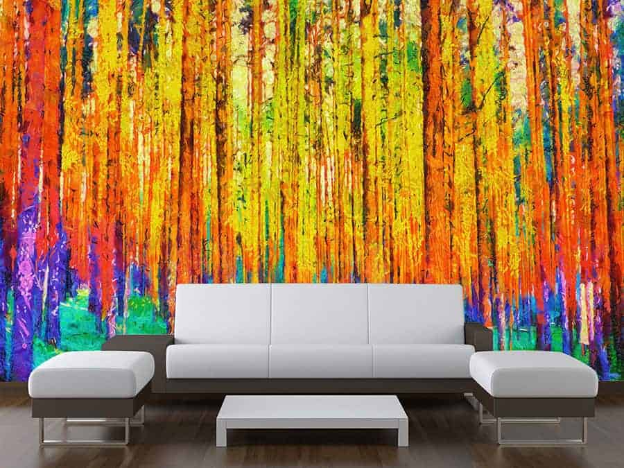 Colourful Forest Wall Mural
