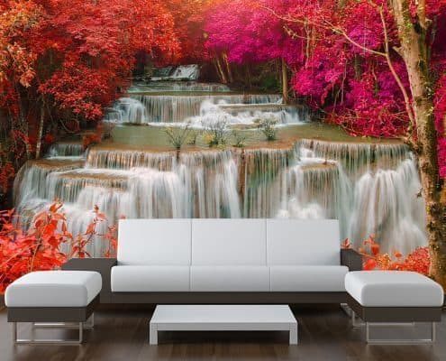Rain Forest Jungle waterfall Wall Mural