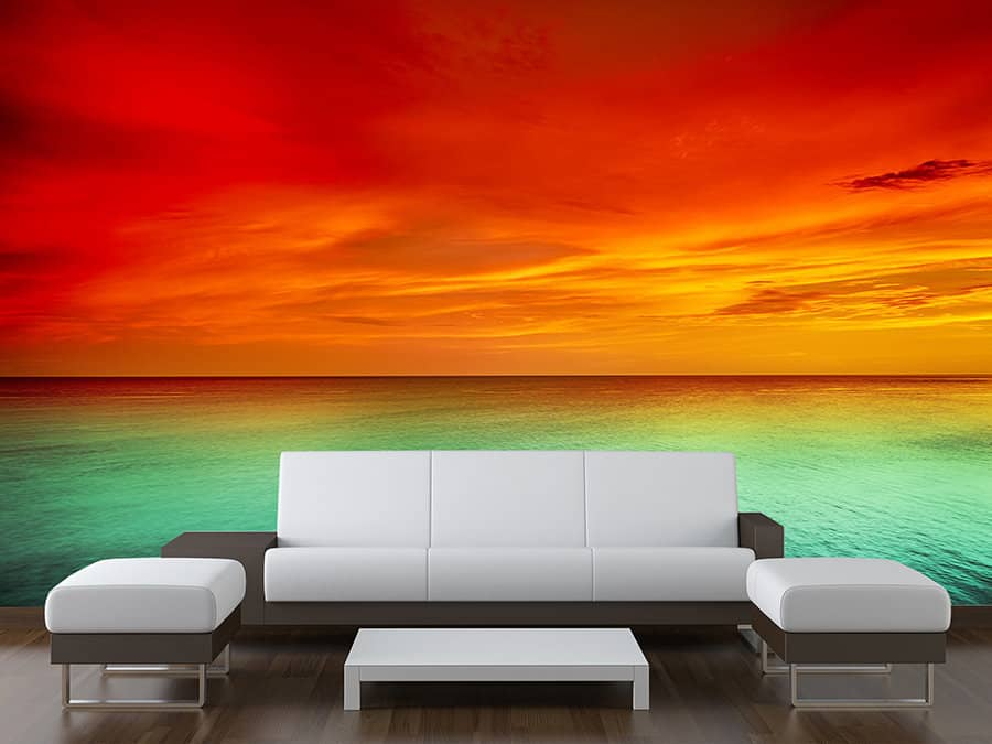 Tropical Sunset Wall Mural Made To Measure Wall Murals