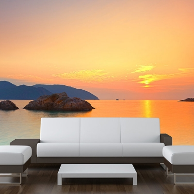 Sunset Sea horizon Wall Mural