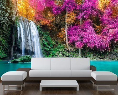 Tropical Waterfall Wall Mural