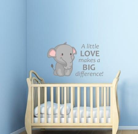 A little love elephant wall sticker