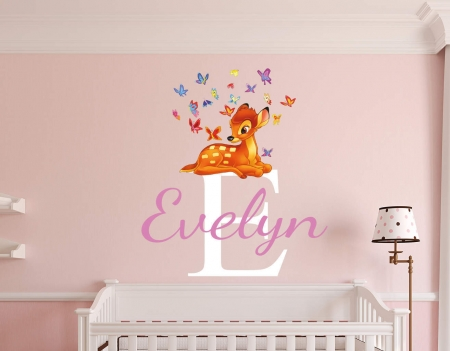 Personalised Bambi name wall decal