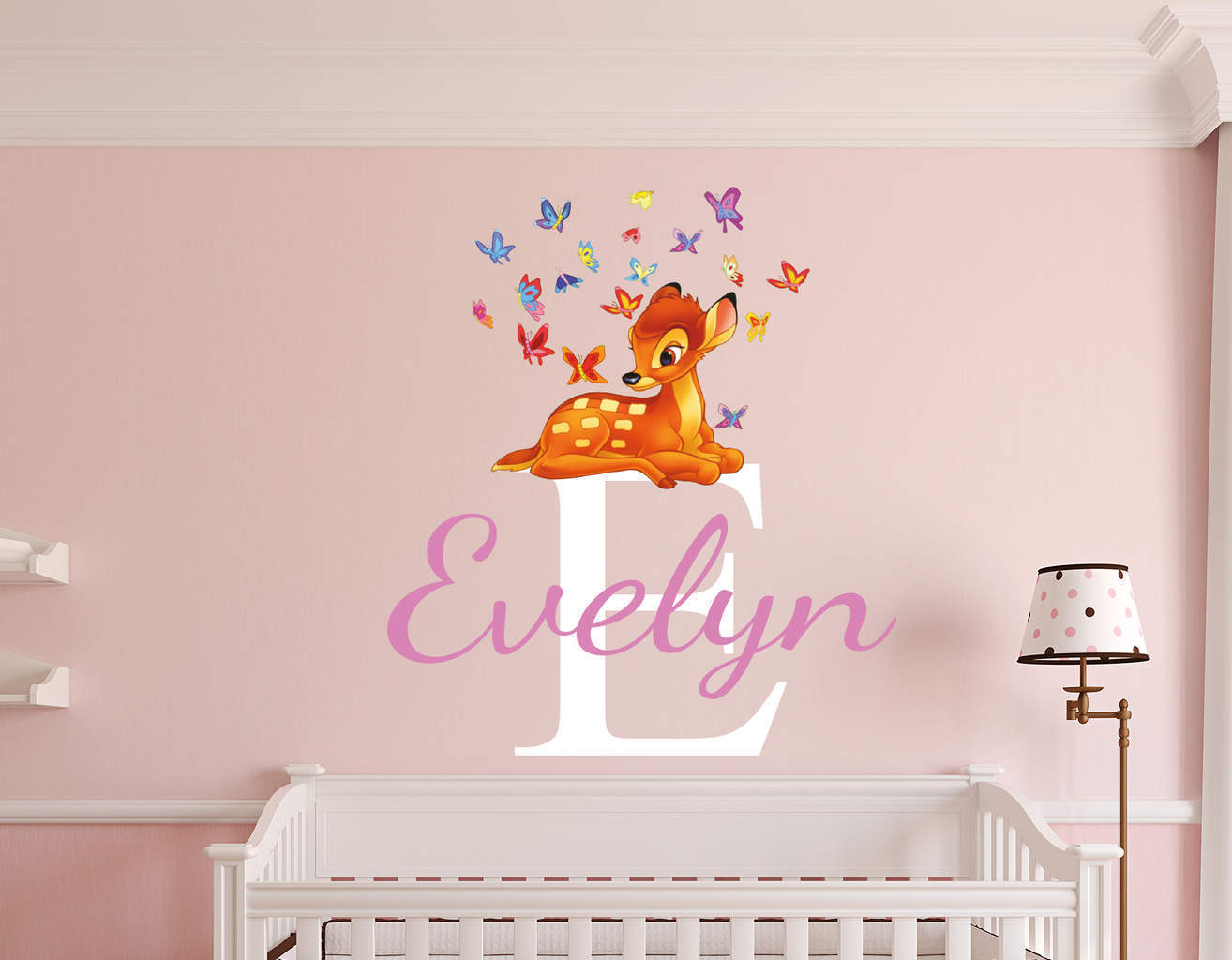 personalised bambi name wall decal sticker. Black Bedroom Furniture Sets. Home Design Ideas