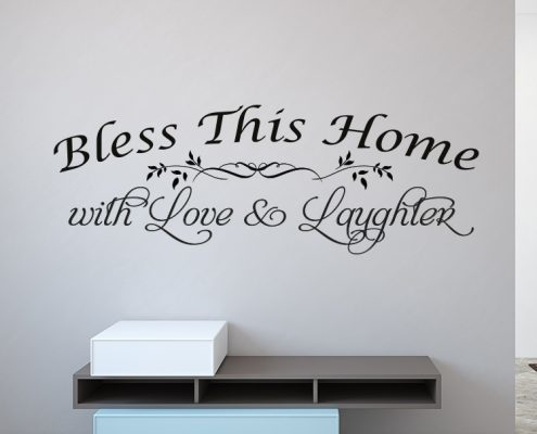 Bless this hoome wall decal sticker