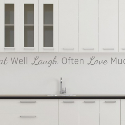 Eat Well Laugh Often Love Much Wall Decal Sticker