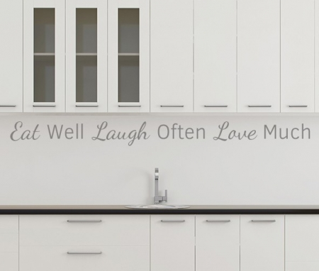 Eat Well Laugh Often Love Much Wall Decal Sticker