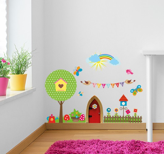 make your fairy feel at home with this beautiful fairy how to make wall art stickers at home kids wall stickers