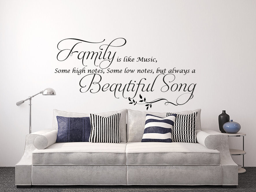 Family is like music wall decal sticker
