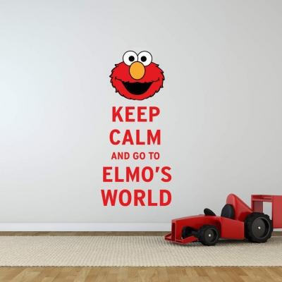 Keep Calm Elmo's world wall decal sticker