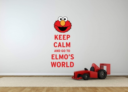 Keep Calm Elmo's world wall decal sticker