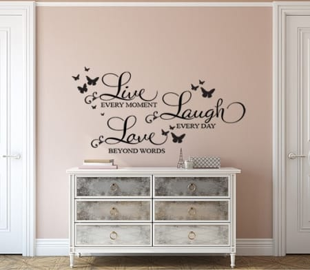 Wall Decal, Live Laugh Love wall decal sticker quote