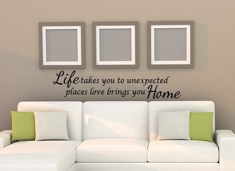 Love Brings you Home Wall Decal Sticker